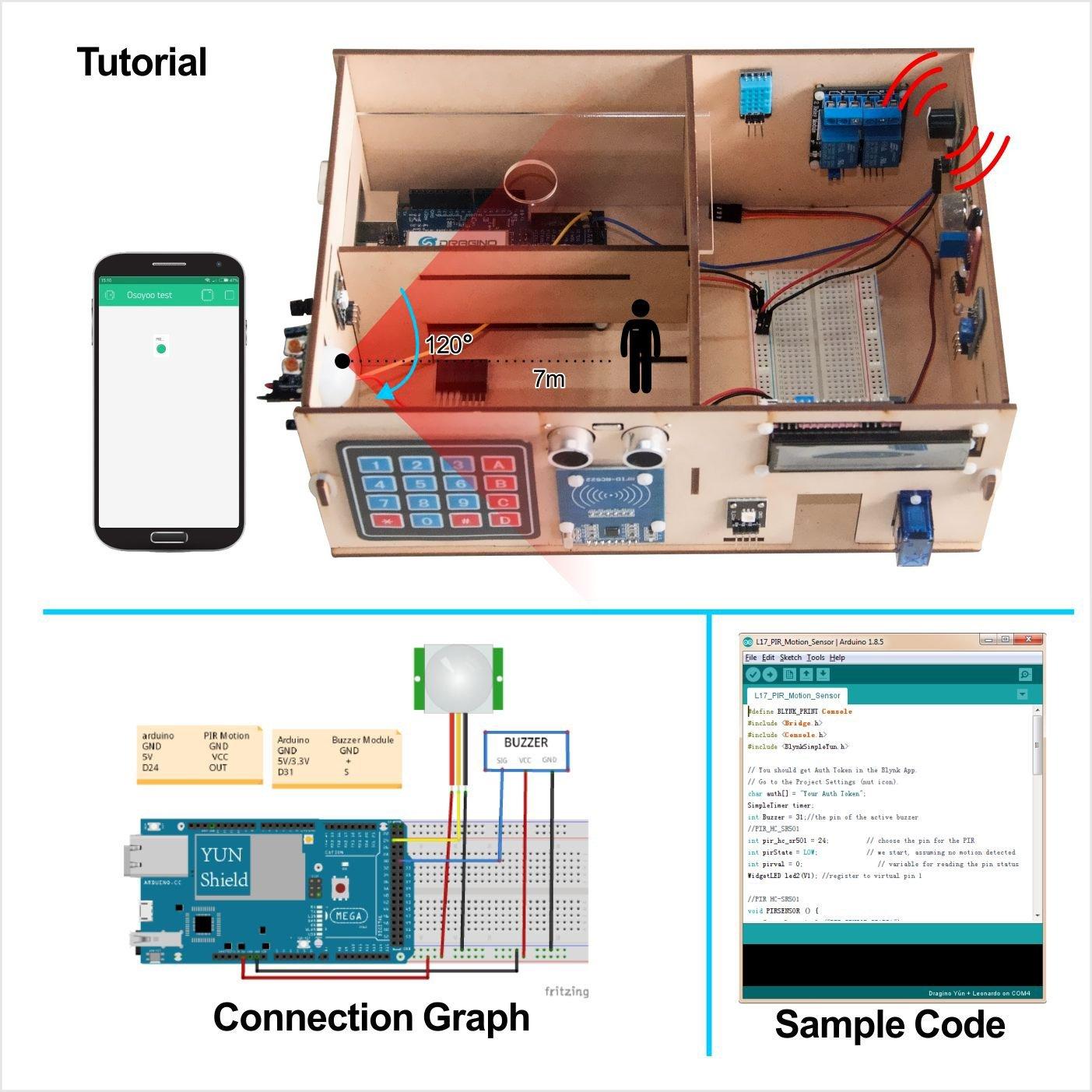 Osoyoo Yun Iot Smart Home Electronic Kit For Arduino Mega Board And Leonardo Pinout Diagrams Adafruit Industries Wooden House Model Diy Project Gewerbe Industrie Wissenschaft