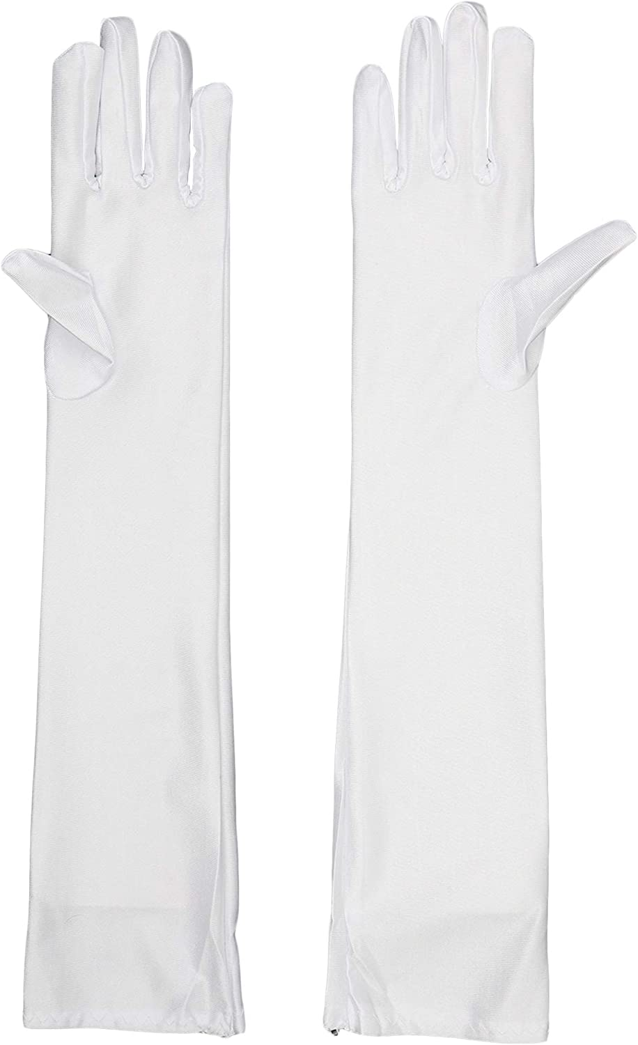 White Satin Opera Gloves - 1 Pair
