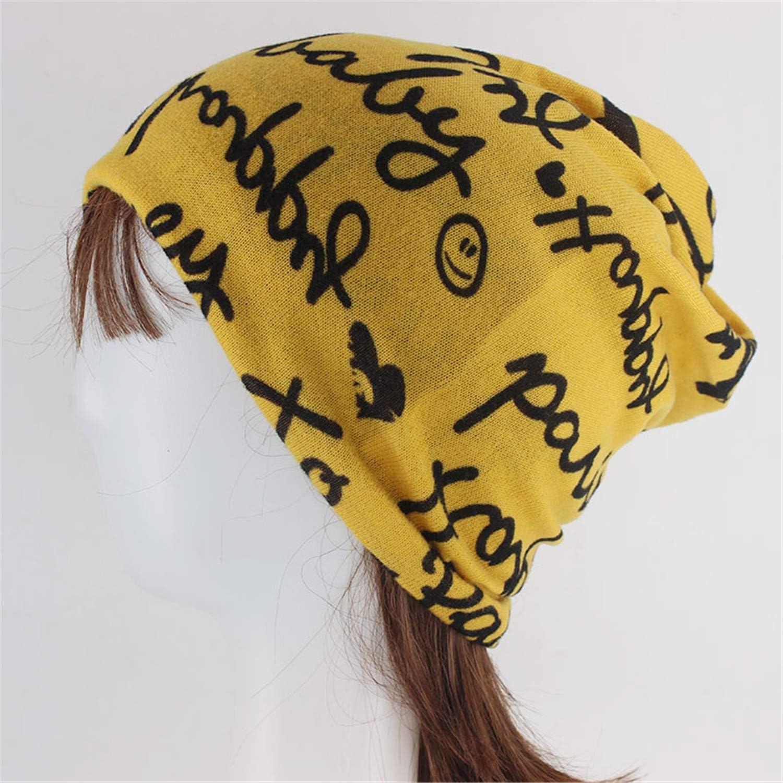 Women Fashion Beanie Skullies Letter Casual Cotton Hat Double Used Warm Head Cap