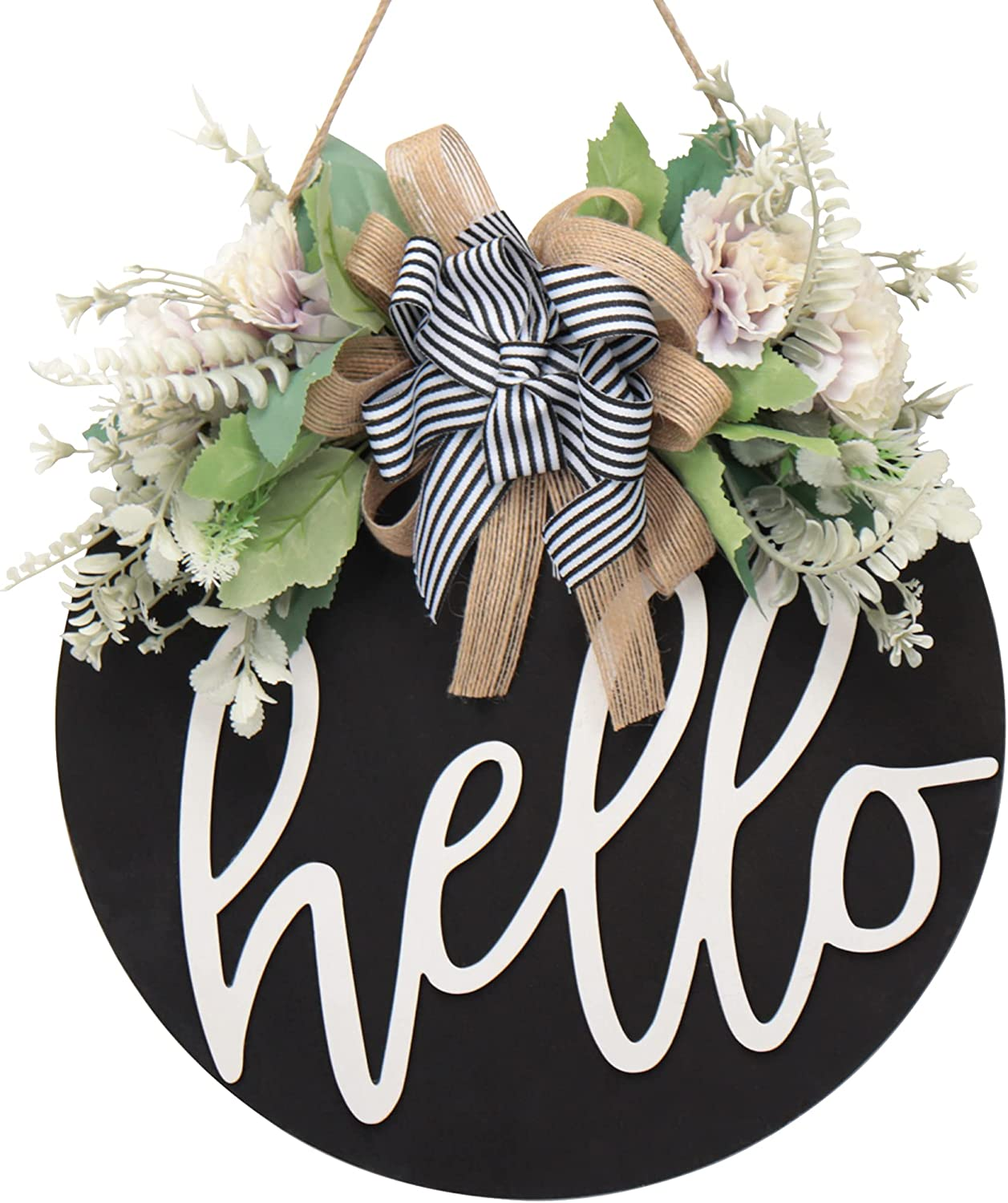 Welcome sign for front door wreaths for front door decor farmhouse porch decor outdoor Welcome 3D Front Door Hanger Door sign Wreath Welcome Farmhouse Sign for Front Door Decor Entry Way Wall Decor (A