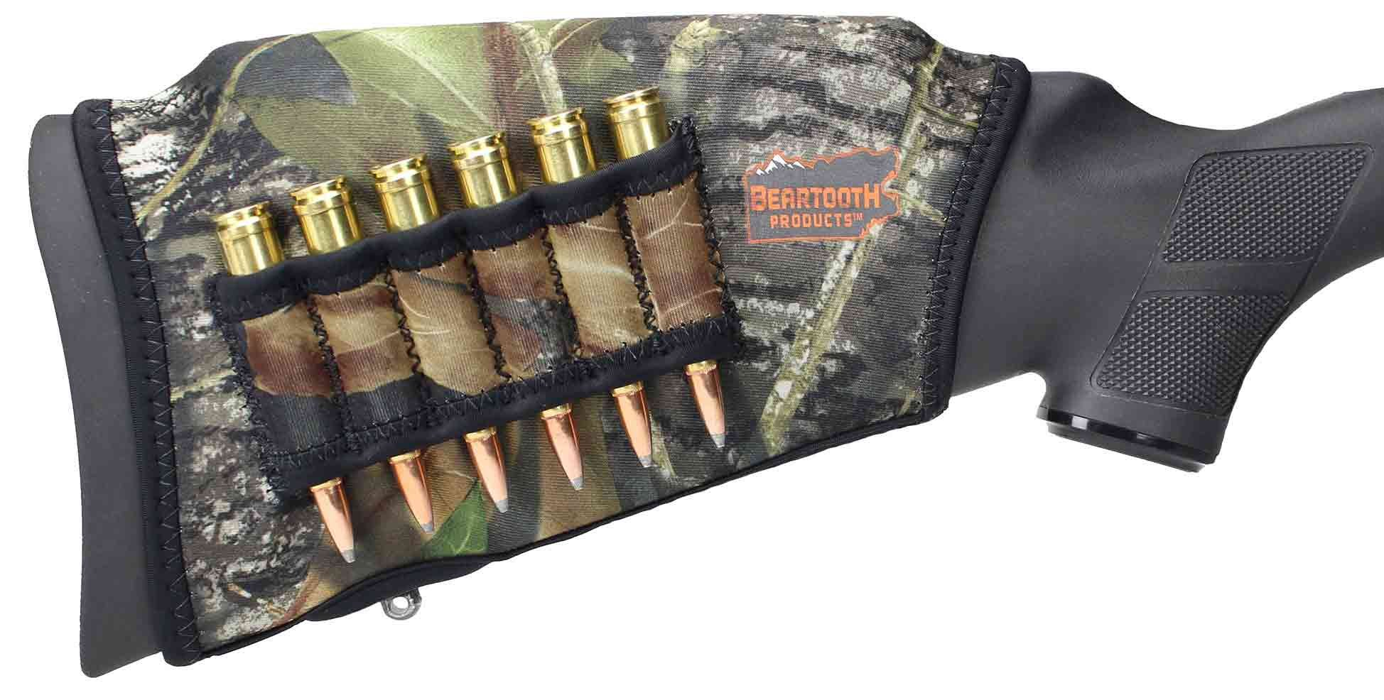 Beartooth Comb Raising Kit 2.0 - Premium Neoprene Gun Stock Cover + (5) Hi-density Foam Inserts - RIFLE MODEL (Mossy Oak Break-up - Left Handed) by Beartooth
