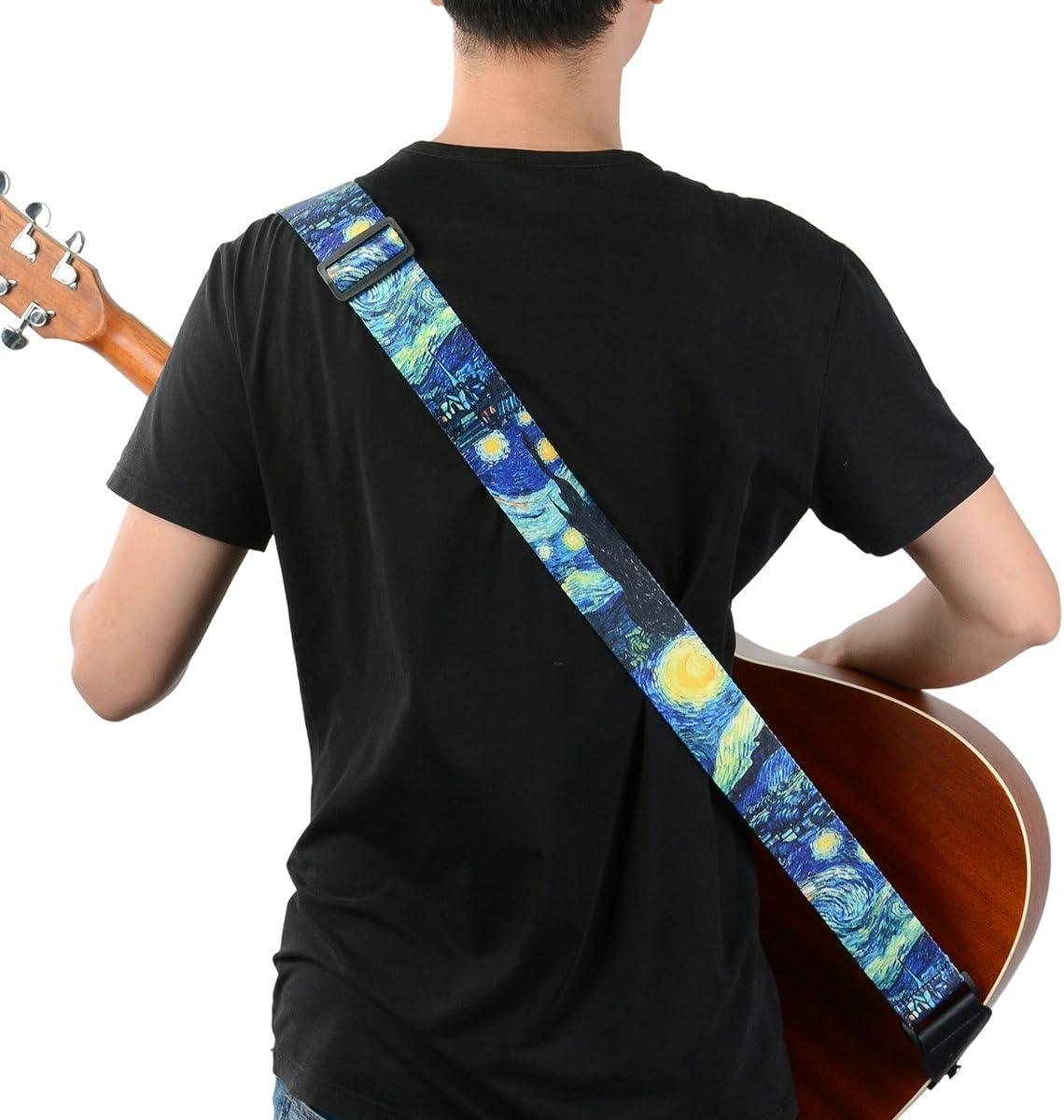 Electric Guitar Bass Includes Strap Button /& 2 Strap Locks BestSounds Guitar Strap /& Leather ends Guitar Shoulder Strap Suitable for Acoustic Guitar