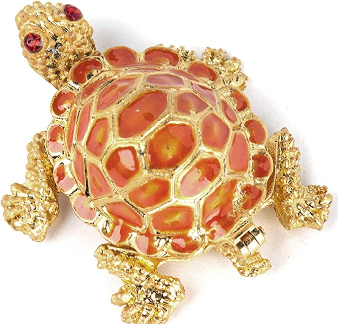 Yu Feng Tiny Cute Sea Turtle Figurines Small Turtle Trinket Box Hinged Collectible Turtle Gifts For Kids Home Kitchen Amazon Com