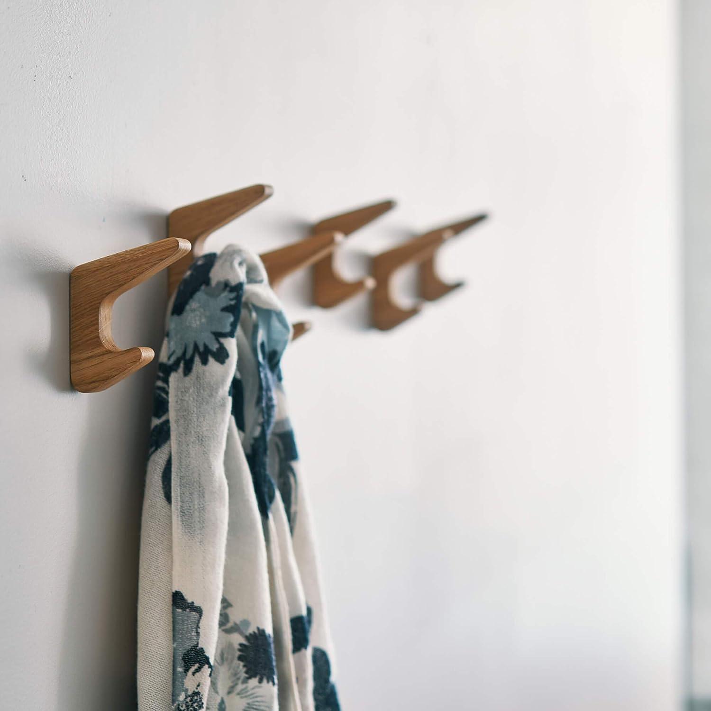 Natural Oak Wood Coat Hooks RAITIS
