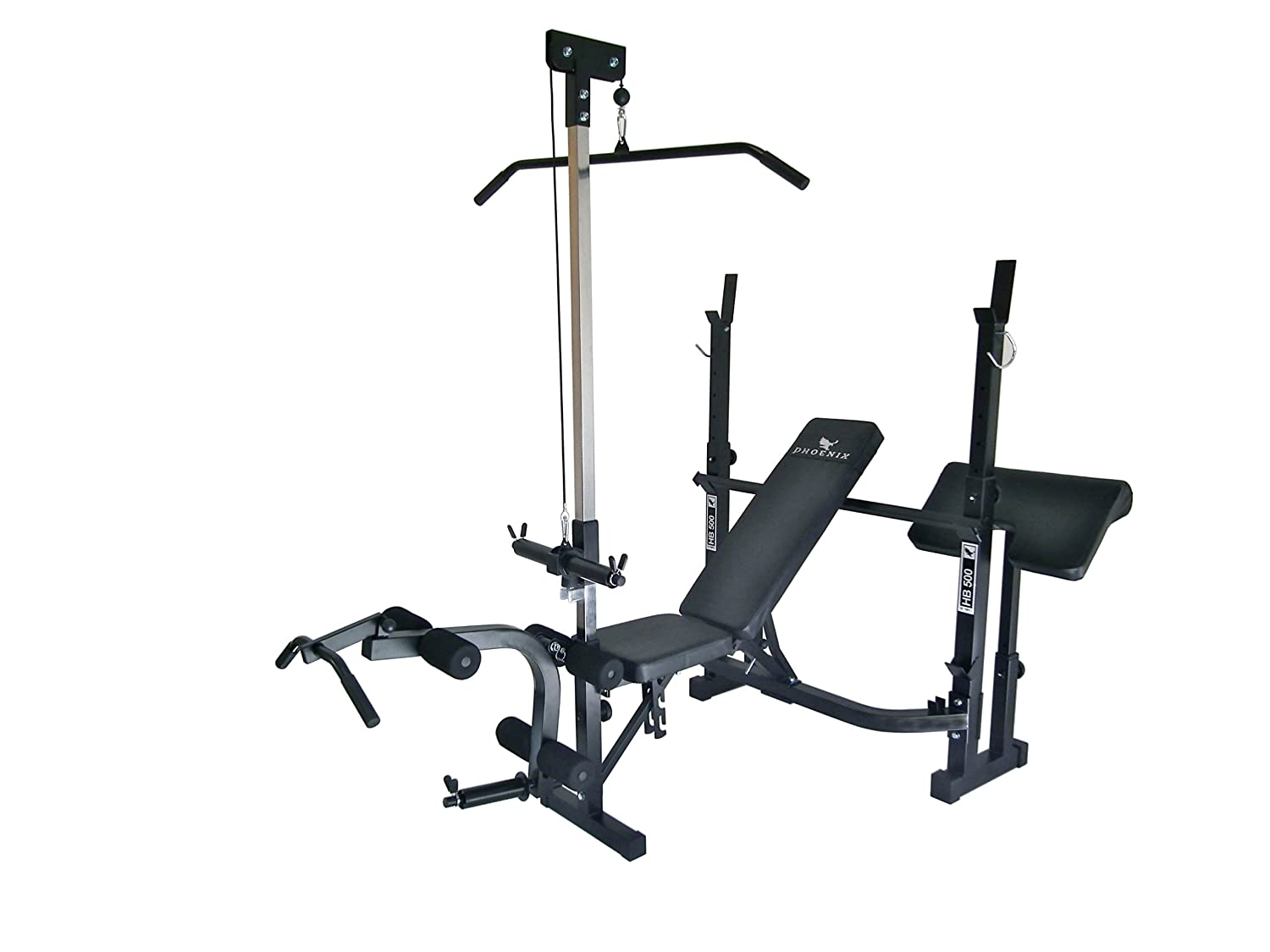 Amazon.com : Phoenix 99225 Power Bench Mid Width : Adjustable Weight  Benches : Sports & Outdoors