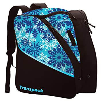 8e6902afa2 Amazon.com  Transpack Edge Junior Ski Boot Bag 2019 - Aqua Snowflake  Alpin  Haus