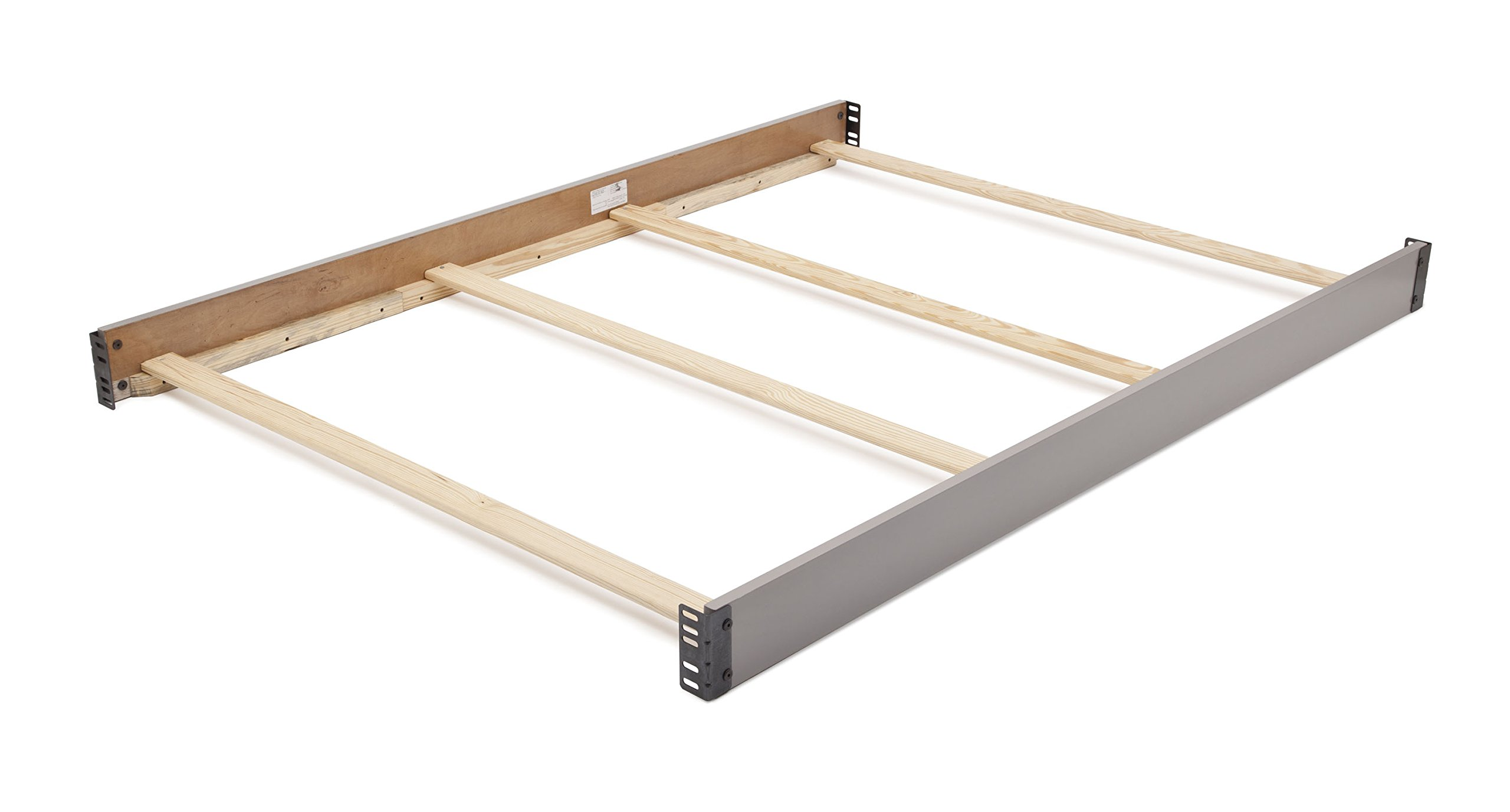 Delta Children Wooden Full-Size Bed Rails, Grey