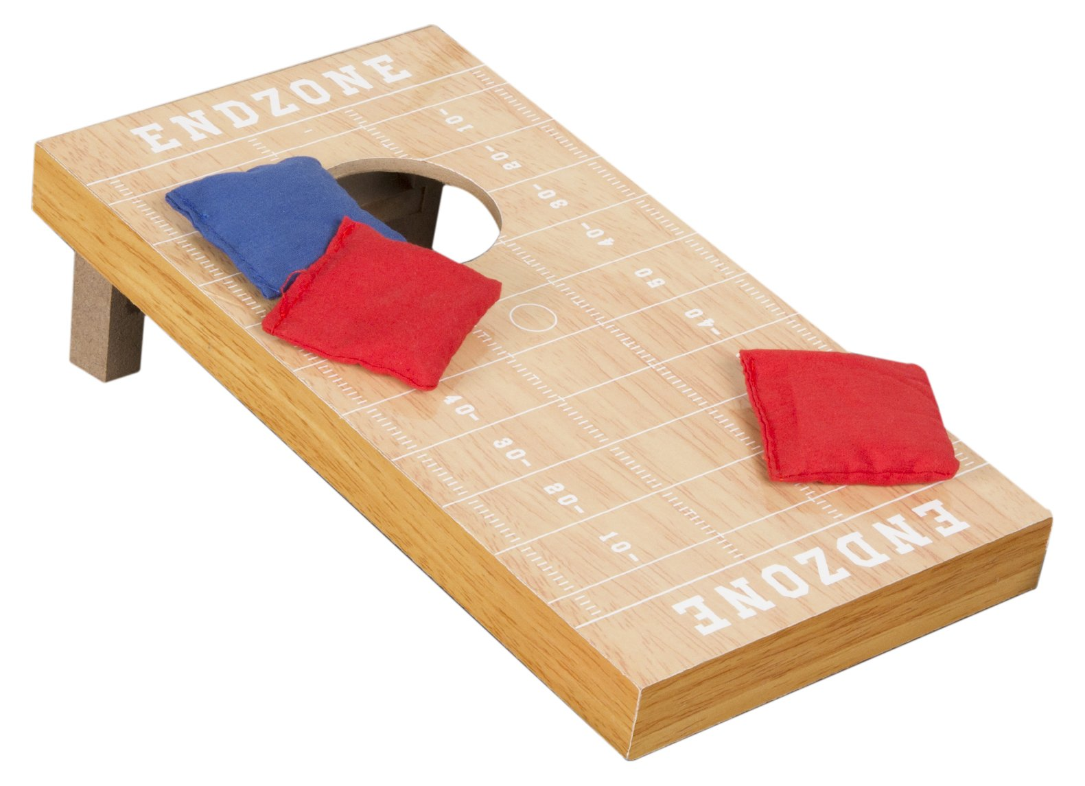 Tabletop Football Field Theme Cornhole Game