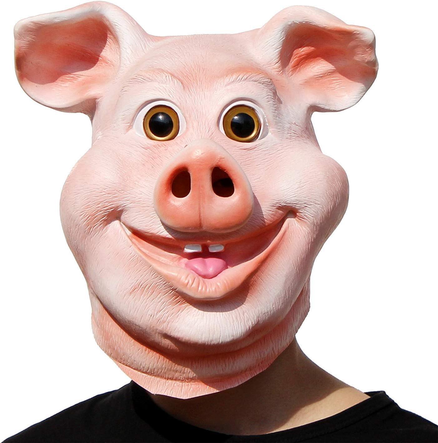 Maschera Plastica Unisex Bambino Taglia maiale accessorio per animale da azienda PORKY PEPPA Fancy