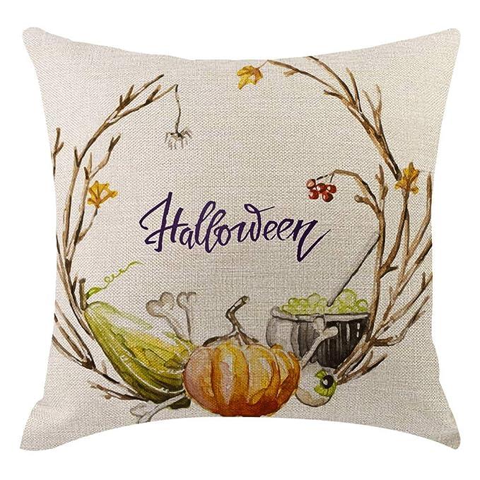 Amazon.com: Dergo Halloween calabaza funda de almohada ...