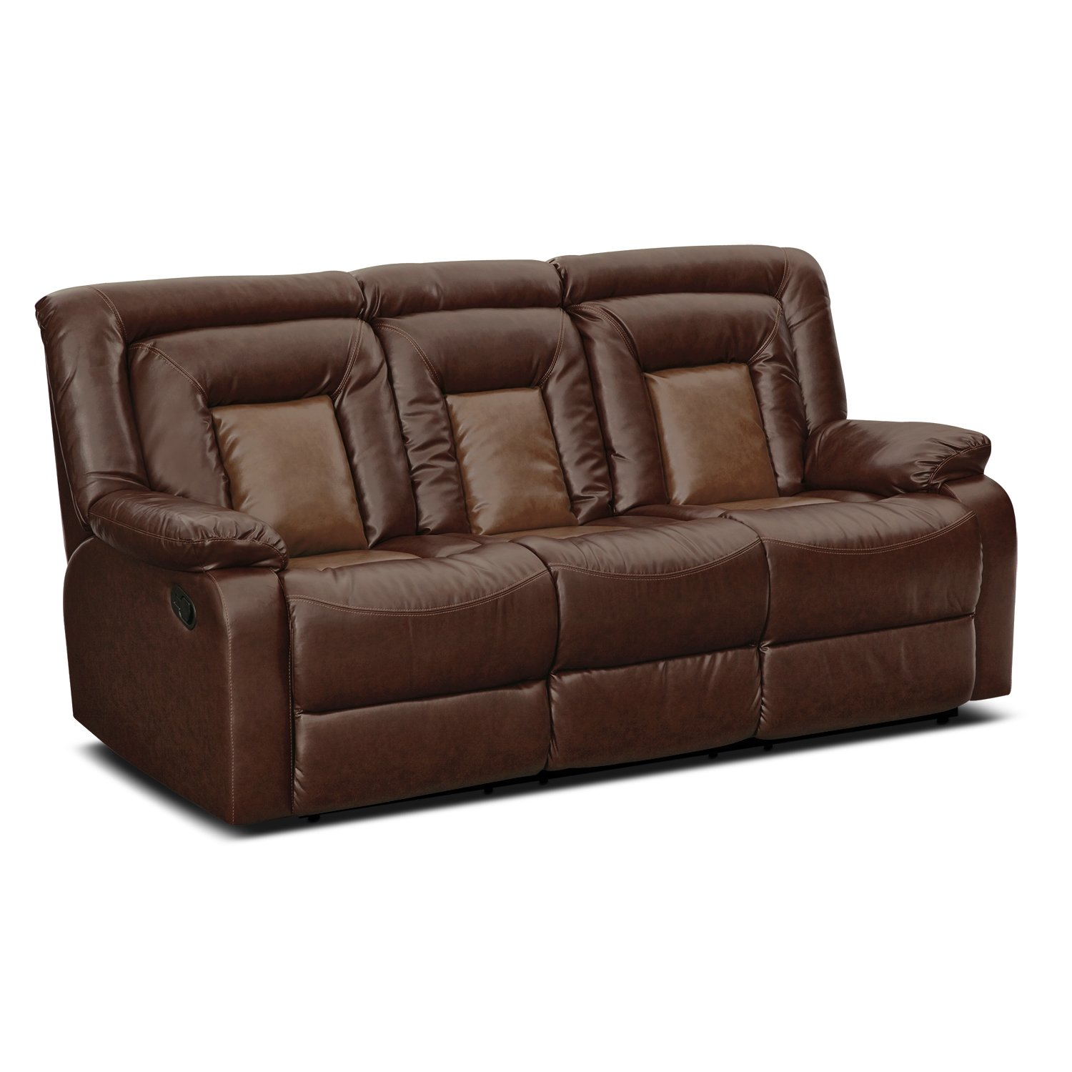 Amazoncom Roundhill Furniture Kmax 2Toned PU Dual Reclining
