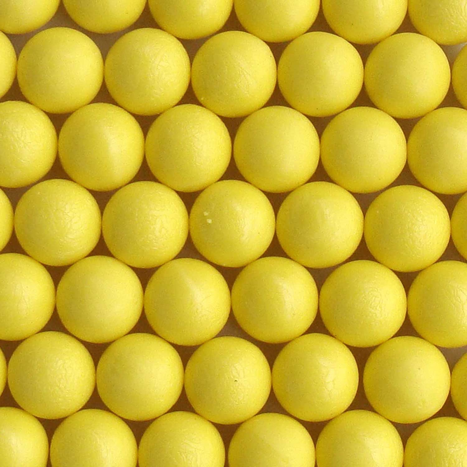 100 New .68 Cal Reusable Rubber Training Balls Paintballs Yellow Color GFSP Outdoor Sports