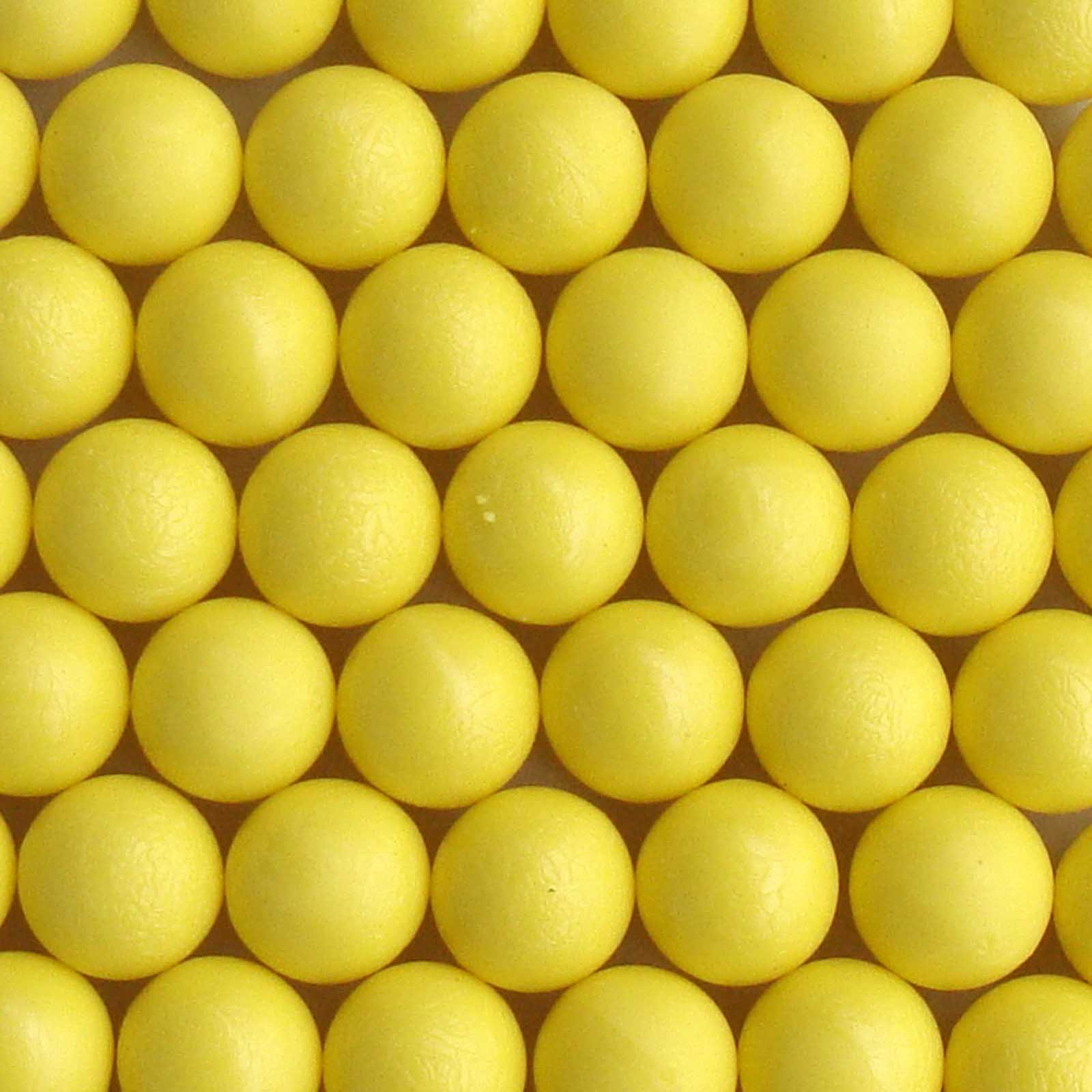 50 New .68 Cal Reusable Rubber Training Balls Paintballs Yellow Color