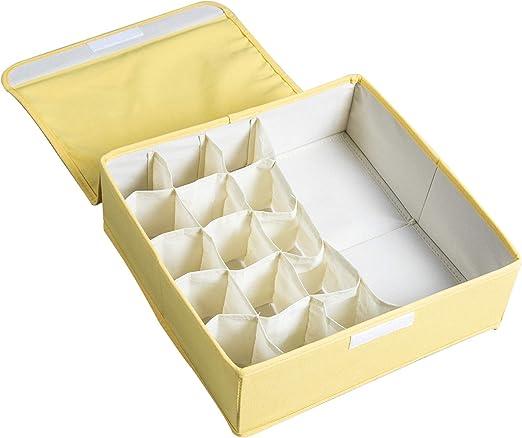 Closet Organizer Box For Underwear Bra Socks Ties Scarves Storage Drawer Divider