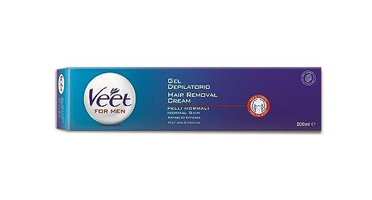 3 opinioni per Veet For Men Silk & Fresh Technology Gel Depilatorio Uomo, 200 ml