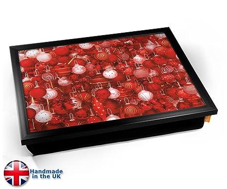 Amazon.com: KICO rojo bolas de Navidad decoración cojín ...