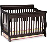 Delta Children Canton 4-in-1 Convertible Crib - Easy to Assemble, Dark Chocolate