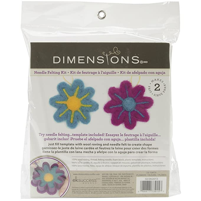 Amazon Dimensions Needlecrafts Try Needle Felting Flower Kit