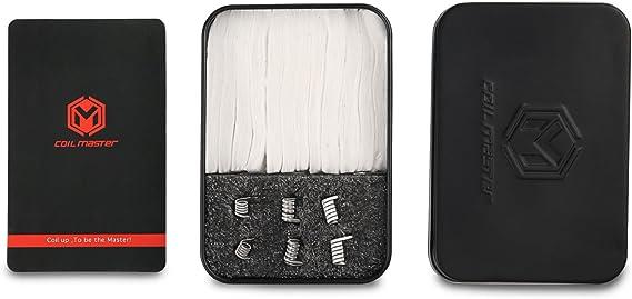 Coil Master Ready Box: Kit Vapeo de Resistencias Clapton + Algodón Orgánico Japonés Para Cigarrillos Electrónicos – Repuestos de Resistencias Prefabricadas (6 uds.) + Algodón (12 uds.) Auténtico 100%: Amazon.es: Salud y cuidado personal