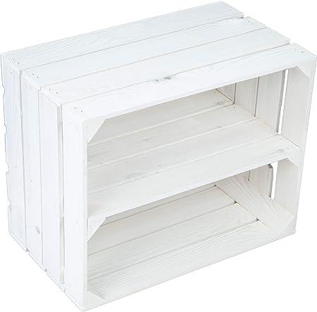 Estantería maciza para zapatos o libros, forma de caja de frutas o vino, tamaño aprox. 50 x 40 x 31 cm, de madera antigua, decorativa: Amazon.es: Hogar
