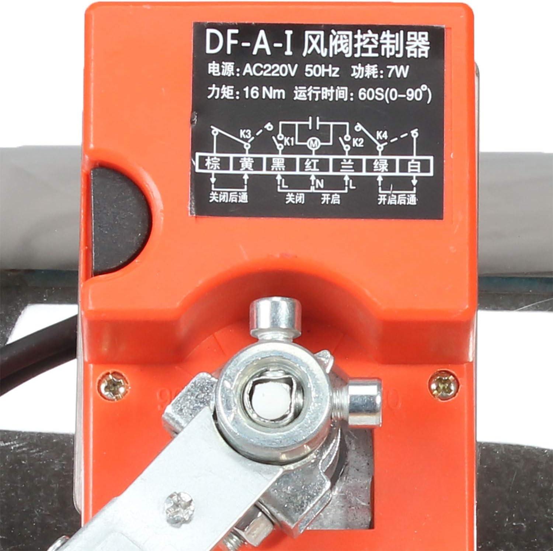 Di/ámetro 63mm Compuerta motorizada 220v 16NM compuerta regulacion aire 5 posiciones para ventilacon rejilla vmc di/ámetro 51 63 76 80 100 125 150 200 250 300 350 400 mm