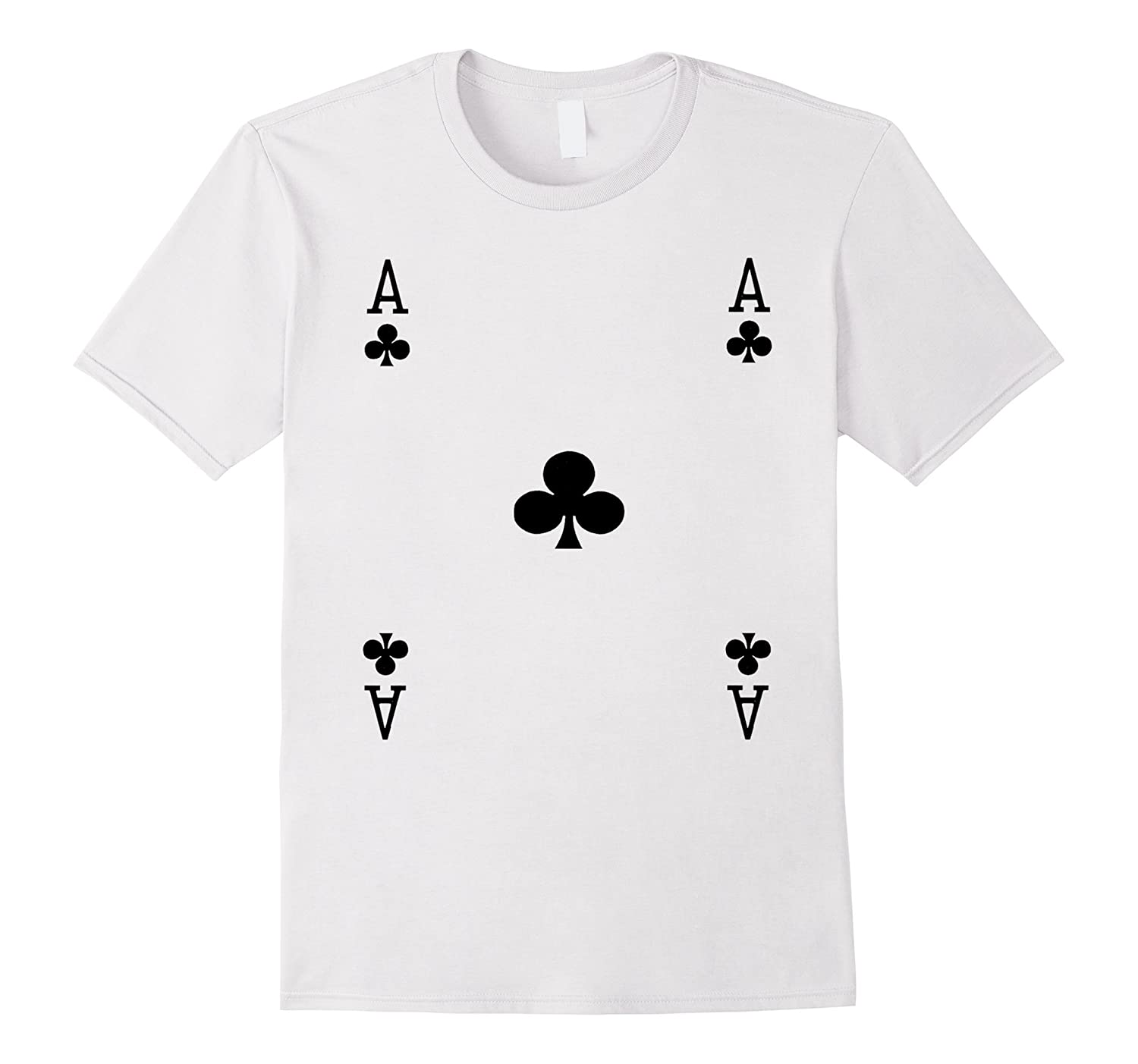 Ace of Clubs Playing Card Poker Costume Card Tee Shirt-Art
