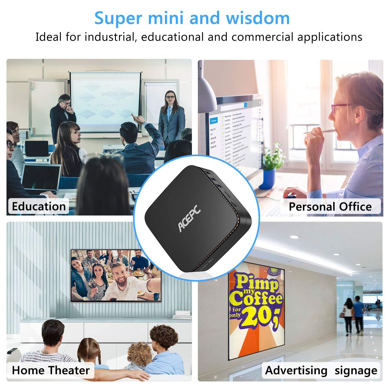 Windows 10 ACEPC AK1 Mini PC Intel Celeron Apollo Lake J3455 Processor up to 2.3GHz 64-bit Desktop Computer,6GB DDR3//64GB eMMC,2.4G+5G Dual WiFi,Gigabit Ethernet,BT 4.2,4K HD