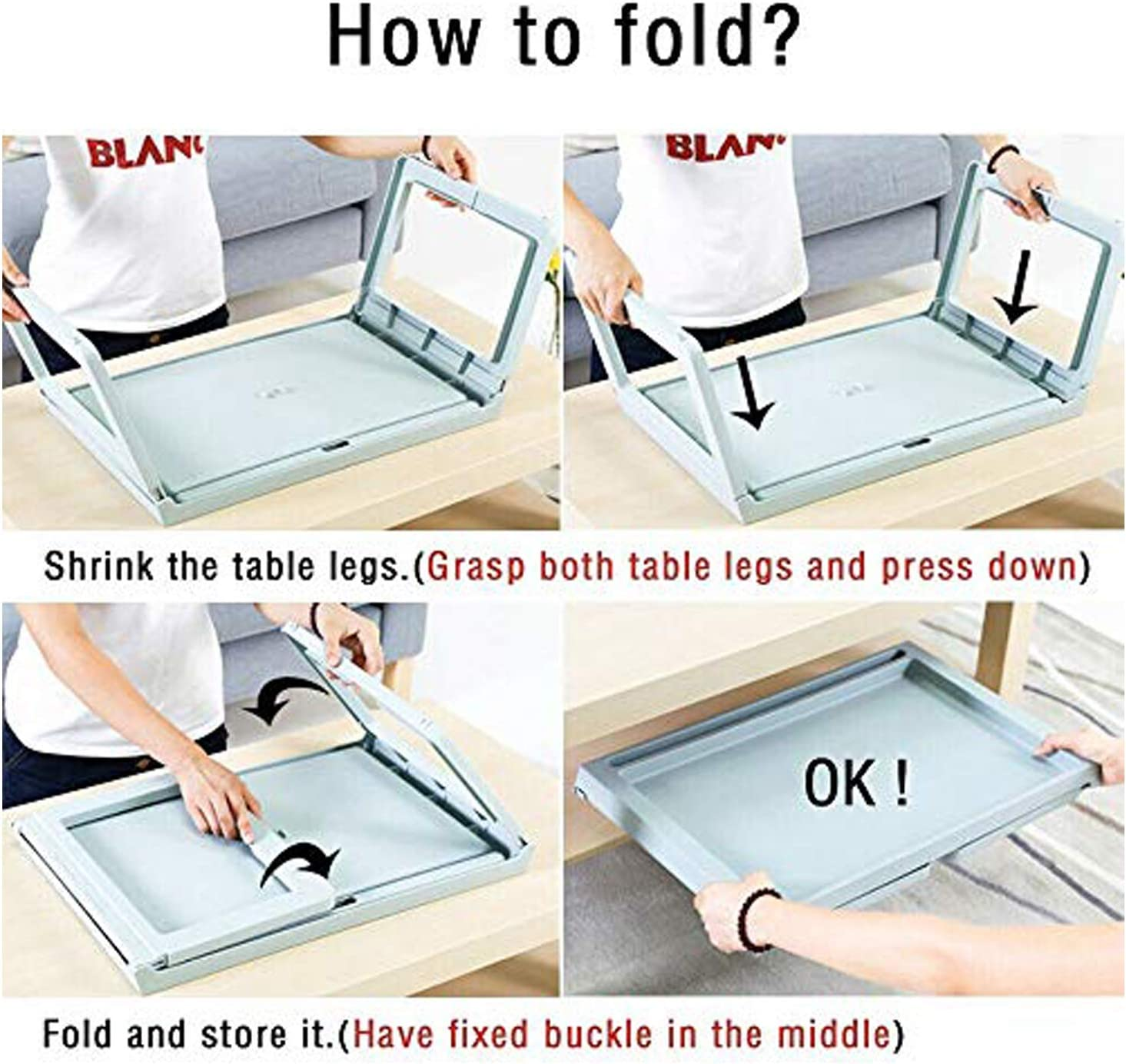 Amazing Tour Portable Adjustable Notebook Stand Make Life More Convenient For Bed /& Sofa Couch Notebook Folding Laptop Table Bed Tray Reading Holder Bed Desk Pink