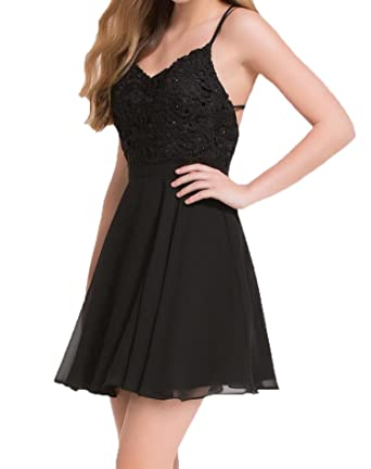 0973a1059cc Chenyu Women Sexy Chiffon Short Strappy Little Party Cocktail Homecoming  Dresses at Amazon Women s Clothing store