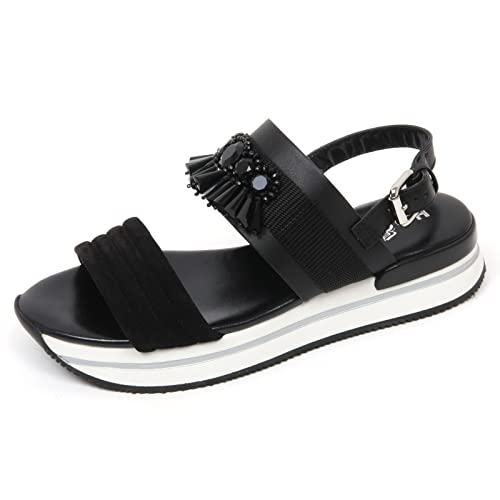 C8832 sandalo donna HOGAN H257 scarpa pietre nero sandal shoe woman