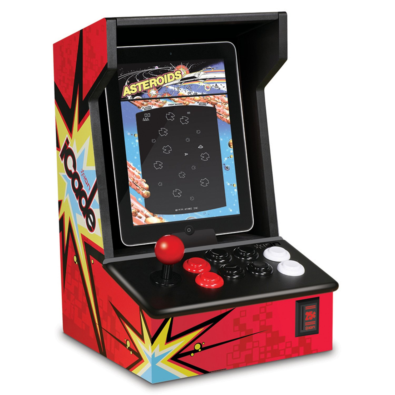 Arcade Cabinet Dimensions Amazoncom Ion Icade Arcade Bluetooth Cabinet For Ipad Sports