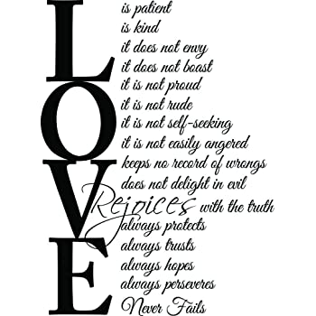 Love Is Patient Quote Classy Amazon 488x488 Love Is Patient Love Is Kind 488 Corinthians 488348