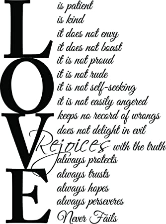 Image result for love is patient love is kind kjv