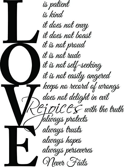 (23x31) Love Is Patient Love Is Kind 1 Corinthians 13:4 7