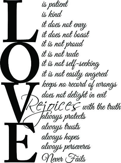 Amazon Com 23x31 Love Is Patient Love Is Kind 1 Corinthians 13 4