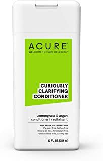 product image for ACURE Curiously Clarifying Conditioner - Lemongrass & Argan | 100% Vegan | Performance Driven Hair Care | Gently Cleanses, Removes Buildup, Boost Shine & Replenishes Moisture | 12 Fl Oz