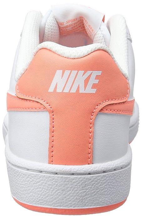 Nike WMNS Court Royale, Baskets Femme, Blanc Cassé (White/Atomic Pink), 38.5 EU