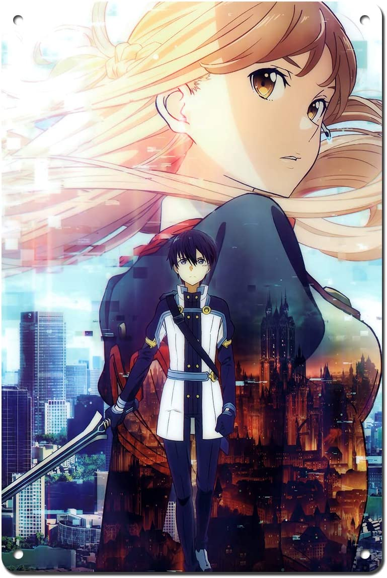 Amazon Com Sword Art Online Sao The Movie Ordinal Scale Metal Decorative Anime Poster Anime Gift Sign 30cmx20cm Posters Prints