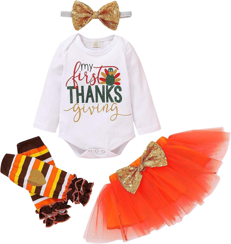 Thanksgiving Dress with Pumpkin Unicorn 1-5 years headband