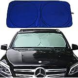 "RELANSON Jumbo Sun Shade for Car windshield Keeps Vehicle Cool-UV Ray Protector Sunshade(Large/63""x 33.9"")"