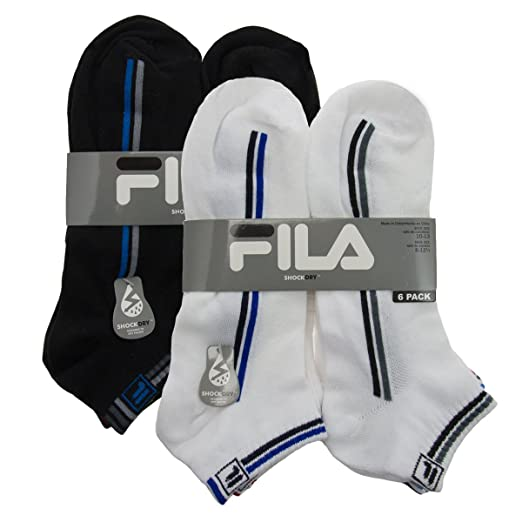 12 Pairs FILA Ankle Sport Activewear Exercise Running Socks Shock Dry Low Cut