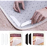 Rug Grippers - 8Pcs Anti Curling Rug Gripper, Keeps Your Rug Safe and in Place & Makes Corners Flat, Premium Carpet…