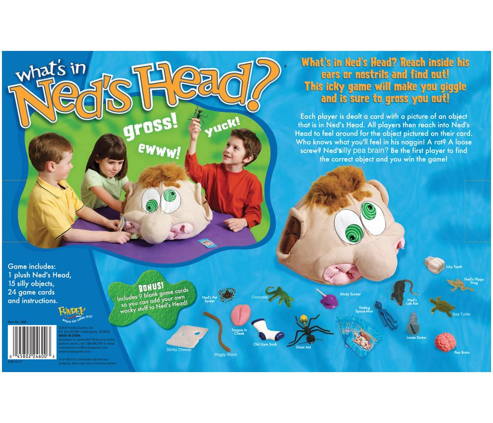 Amazon.com: Ideal What's In Ned's Head Game: Toys & Games