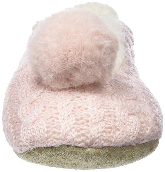 Women Secret Babuchas Brillo y Pompón, Zapatillas para Mujer, Rosa (Pink), M