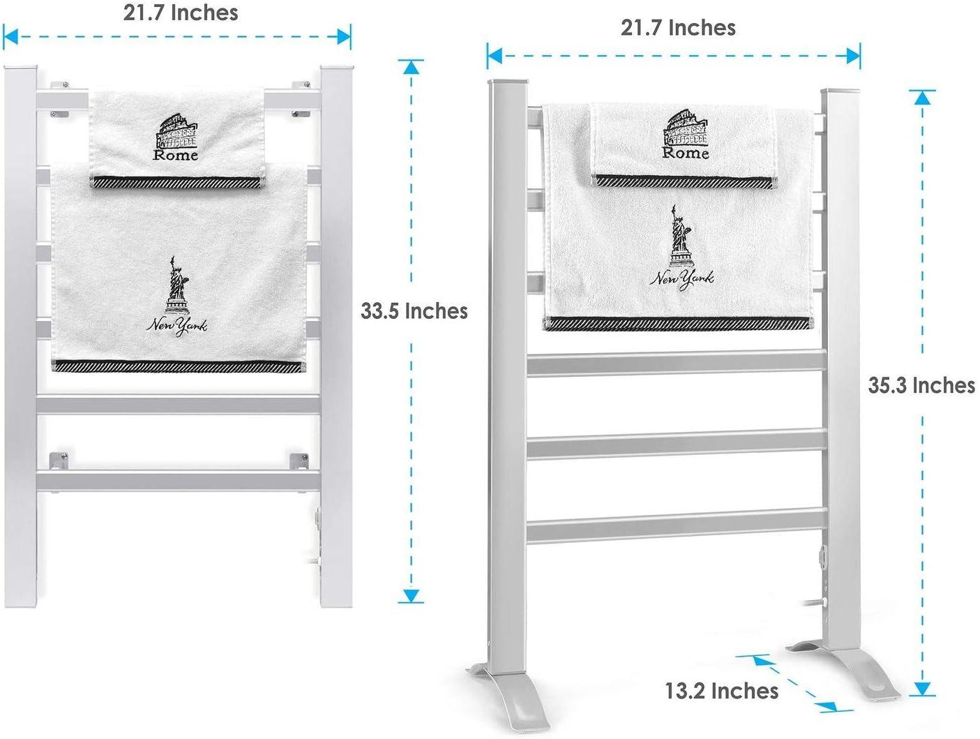 INNOKA Freestanding and Wall Mounted Heated Towel Drying Rack