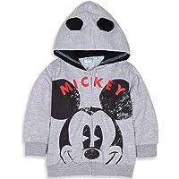 Disney Sudadera con capucha para bebé o Minnie Mouse con orejas y cara de personaje grande de 3 meses a 24 meses