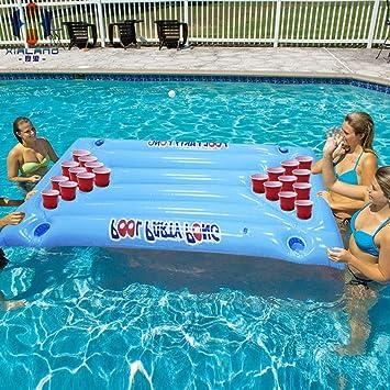 SSBH Flotador de la Piscina de Beer Pong - Flotadores inflables ...