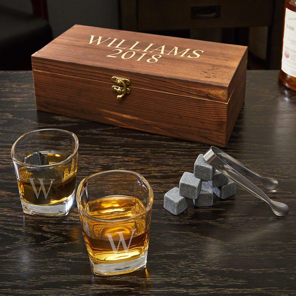 Schaefer Whiskey Stones and 6 oz Shot Glasses Gift Set (Personalized Product)