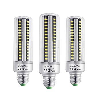 BOGAO Bombillas led E26/E27 96 LEDs, 5736 SMD, 25W, estilo mazorca