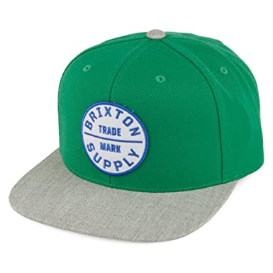 4c20ba4c4a114 Brixton Hats Oath III Snapback Cap - Green-Grey Adjustable  Amazon.co.uk   Clothing